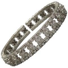 Euro 18 Karat Diamond Cuff Eternity Bracelet