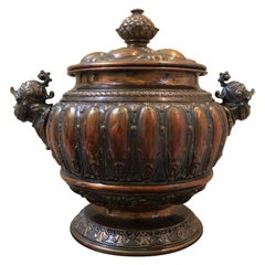 European 18th or Early 19th Century Repousse Copper Tureen
