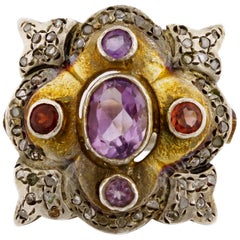 Arts & Crafts Ring of Eccentric Design and Mysterious Origin From Europe