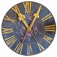 European Black and Gold Clock Face
