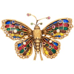 European Butterfly Brooch