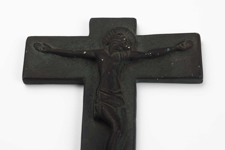 European Ceramic Wall Cross, 1970s For Sale 1