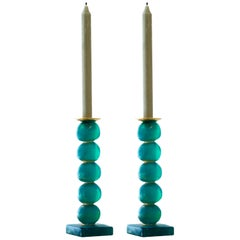 European Contemporary Green Sculptural Candlestick by Margit Wittig