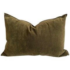 European Cotton Vintage Style Velvet Accent Lumbar Pillow