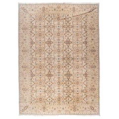European Design Area Rug with Beige, Brown and Gold