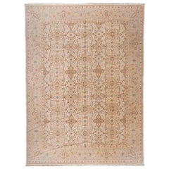 European Design Ivory and Taupe Area Rug