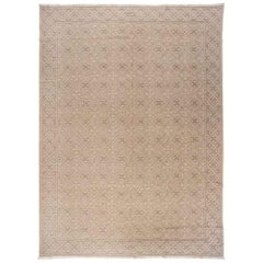 European Design Rug in Beige, Tan and Green