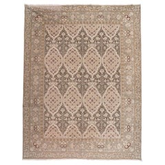 European Design Rug in Brown, Beige and Ivory