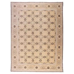 European Design Rug in Taupe and Gold