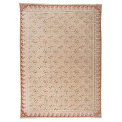 European Design Rug with Roses and Trellis