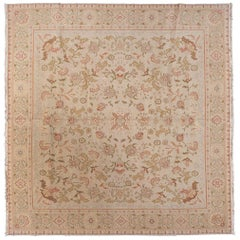 European Design Square Floral Area Rug