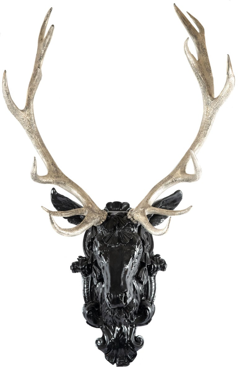 Contemporary European Gilt Red Deer Stag Head For Sale