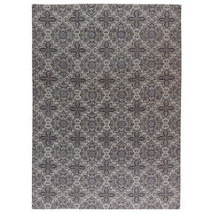 European Inspired Tibetan Hand knotted Wool Rug