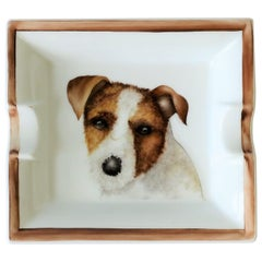 European Jack Russell Terrier Dog Ceramic Tray Vide-Poche or Ashtray