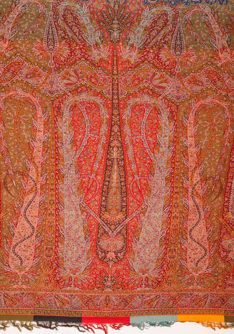 Anglo-Indian European Kashmir Style Paisley Shawl For Sale