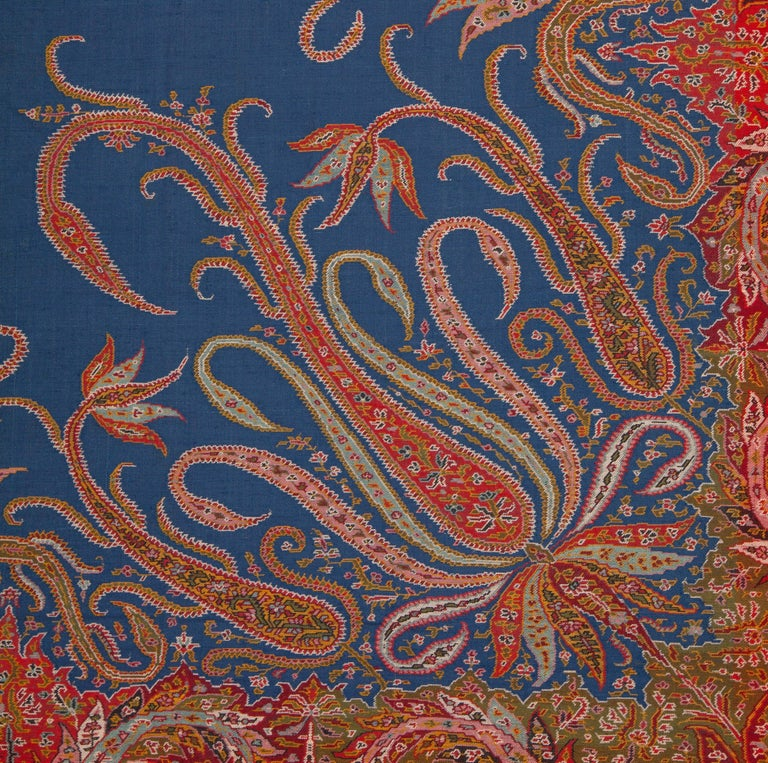19th Century European Kashmir Style Paisley Shawl For Sale
