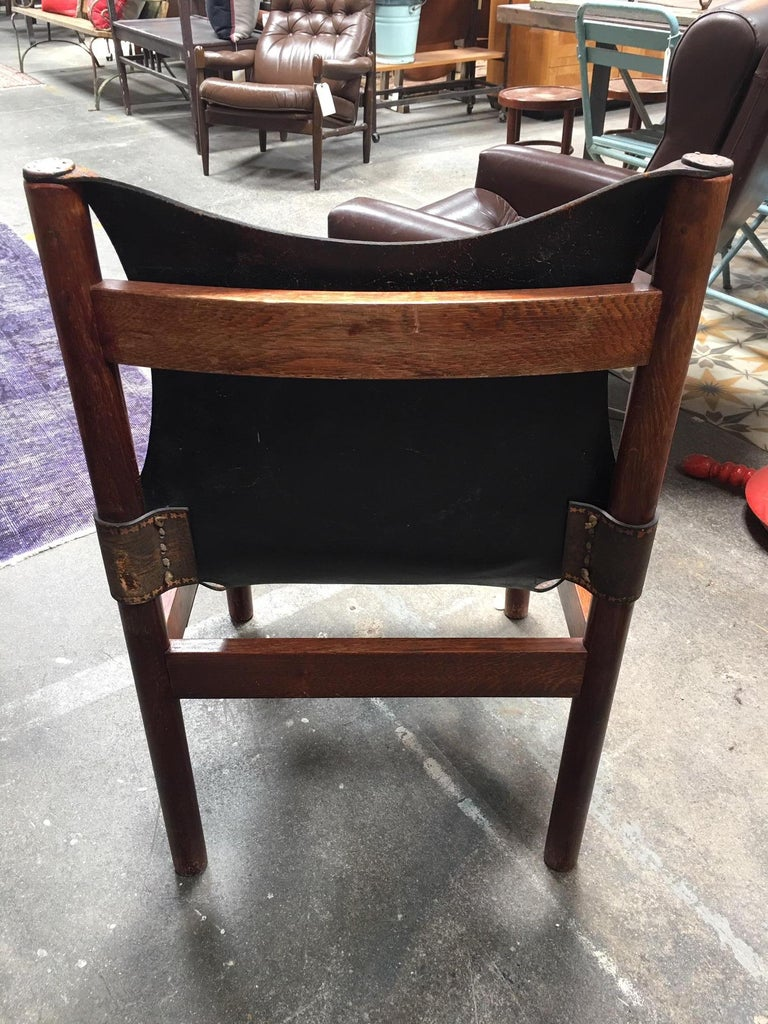 European Leather Embroidered Chair For Sale 1