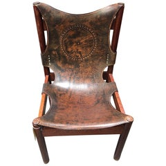 European Leather Embroidered Chair