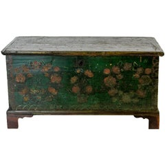 European Painted Blanket Chest