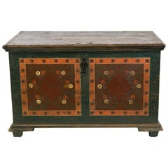 European Pine Painted Blanket Chest