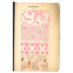 European Printed Cotton Fabric Swatch Book Dated 1902