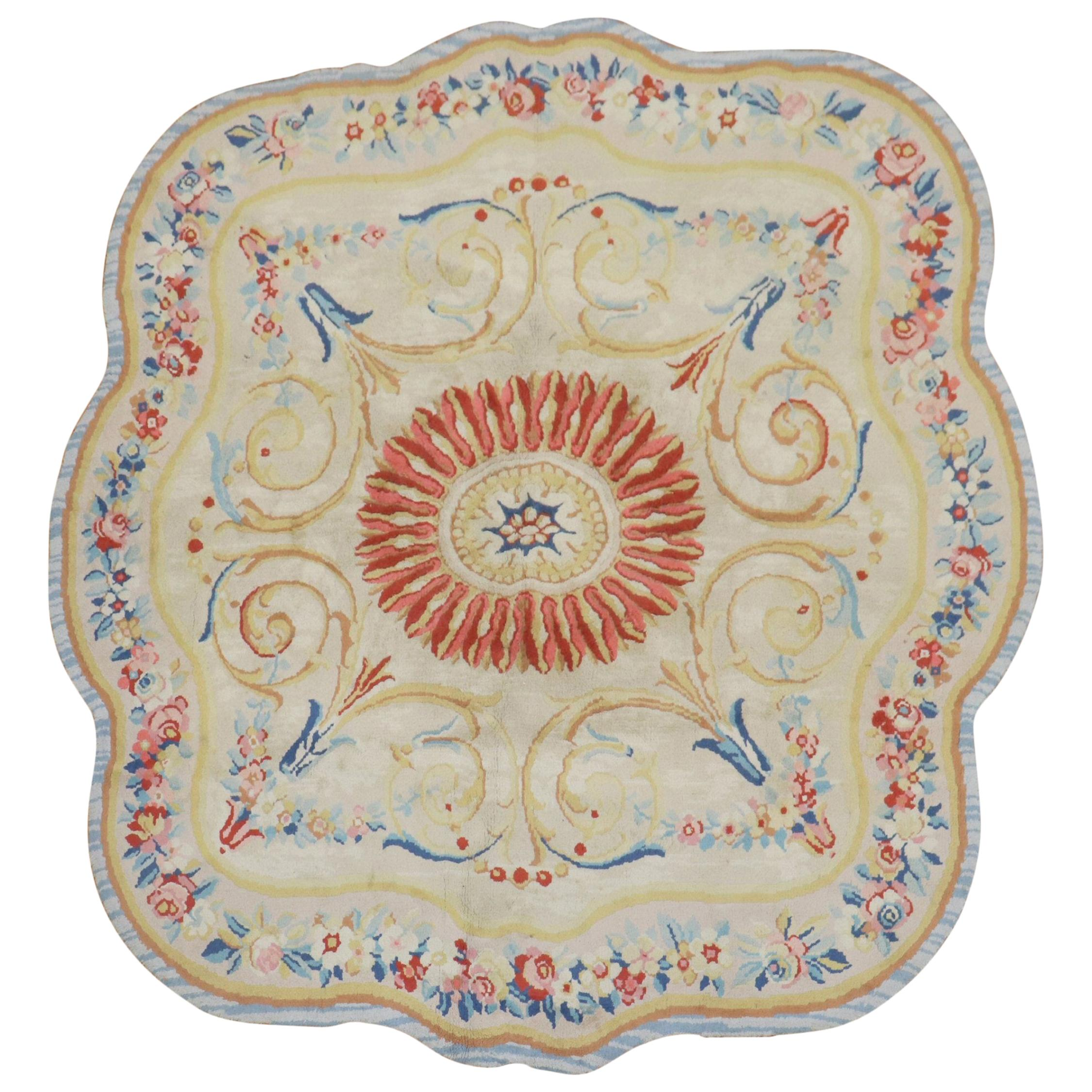 European Savonnerie Octagon Shape Carpet