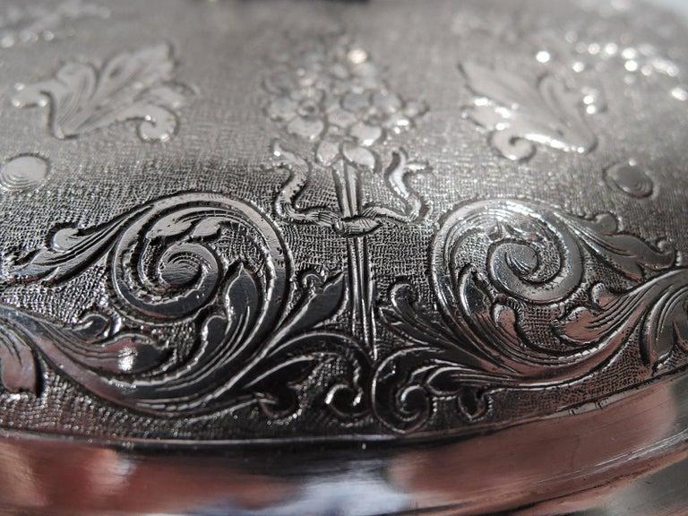 19th Century European Silver Keepsake Box with Elephant Finial For Sale