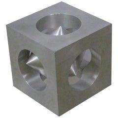 European Space Age Bibelot Puzzle Cube in Aluminum, 1970s