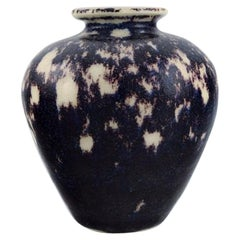European Studio Ceramicist, Unique Vase in Glazed Ceramics, 21st Century