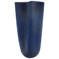 European Studio Ceramist, Large Floor Vase in Glazed Stoneware