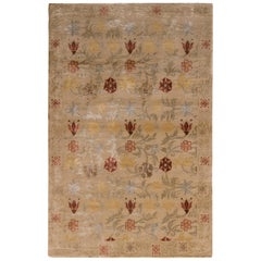 European Style Rug Beige Gold Spanish Floral Pattern by Rug & Kilim