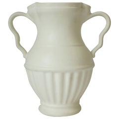 European Urn Form White Ceramic Pottery Vase