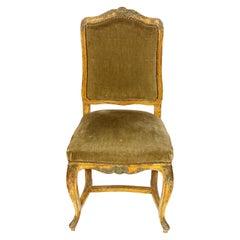 European Velvet Side Chair