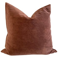 European Vintage Velvet Accent Pillow with Down Feather Insert