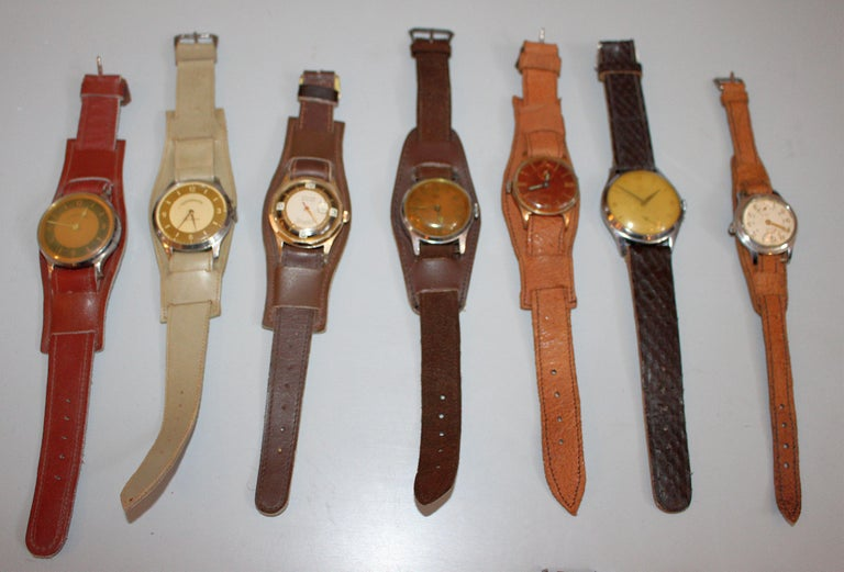 Vintage and antique wristwatch collection. Total 23 watches . All of them in original condition. Leather bends. The watches are functional but needs a movement cleaning which is a normal procedure for the vintage mechanical watches. One price for