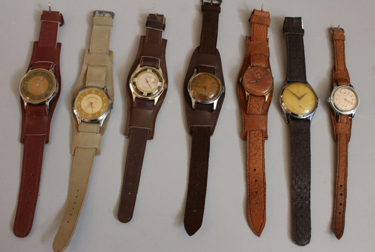 Mid-Century Modern European Vintage Wristwatches Anker, Omega, Orion,  Lanco Swiss, Chronometre For Sale