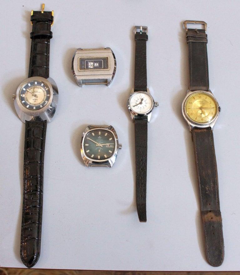 Mid-20th Century European Vintage Wristwatches Anker, Omega, Orion,  Lanco Swiss, Chronometre For Sale