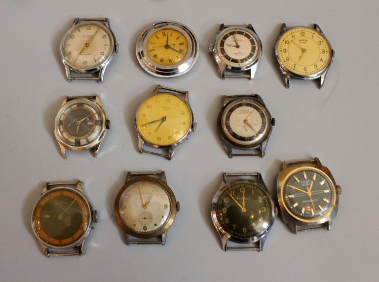 European Vintage Wristwatches Anker, Omega, Orion,  Lanco Swiss, Chronometre For Sale 1