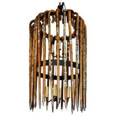 European Walking Stick Chandelier
