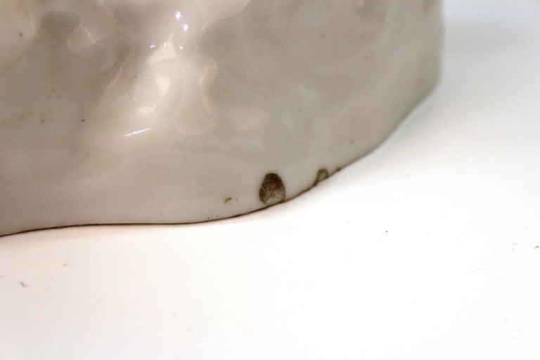 European White-Glazed Porcelain Cockatoo For Sale 7