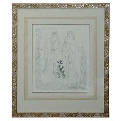'Eurybia and Eros' Etching by Georges Braque