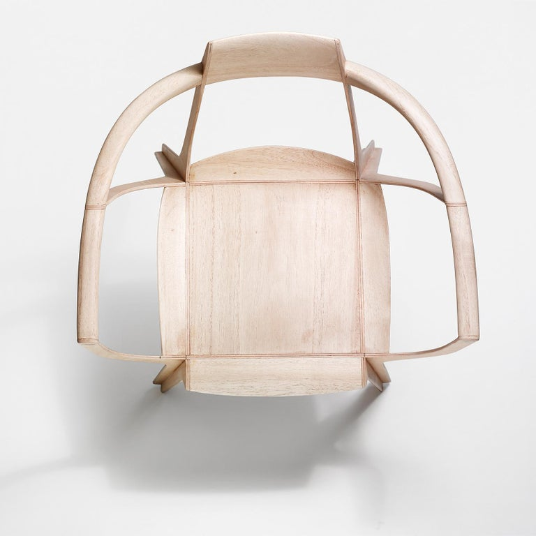 Eutopia Armchair in Kiri Wood by Francisco Gomez Paz In New Condition For Sale In Milan, IT