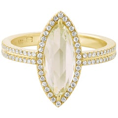 Eva Fehren 1.96 Carat Fancy Light Yellow Diamond Ring in 18 Karat Yellow Gold