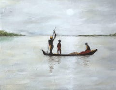 Boating, Painting, Oil on Canvas