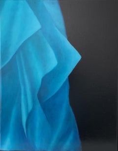 Fashion in blue, Painting, Oil on Canvas