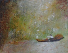 Little Boat, Painting, Oil on Wood Panel