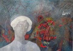 Mona Luna Street Art, Painting, Oil on Canvas