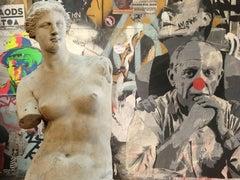 Venus and Picasso, Digital on Metal