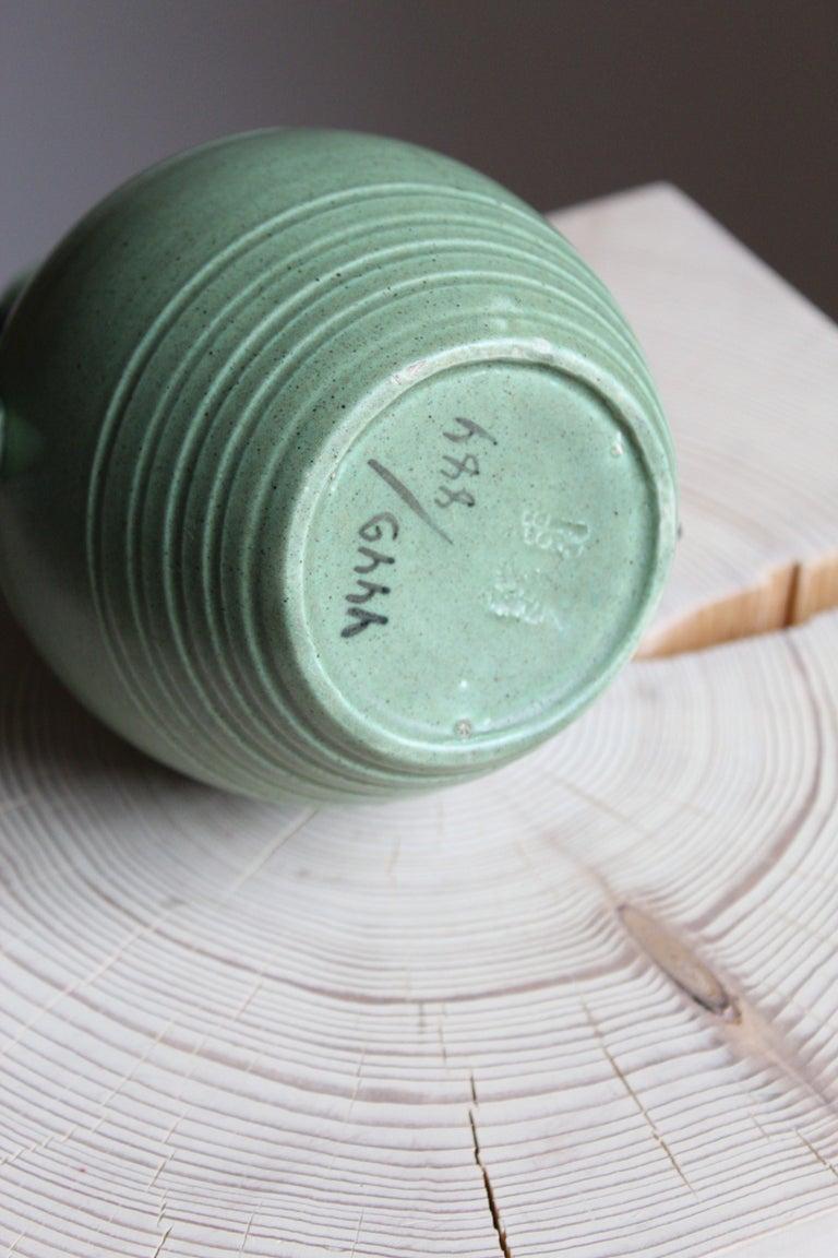Eva Jancke Björk, Vase, Brown Glaze Stoneware, for Bo Fajans, Sweden, 1930s In Good Condition In West Palm Beach, FL