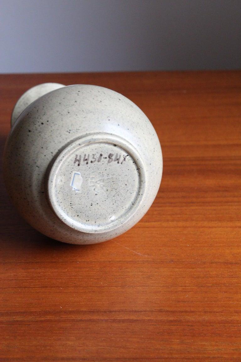 Mid-20th Century Eva Jancke Björk, Vase, Glazed Stoneware, for Bo Fajans, Sweden, 1930s For Sale